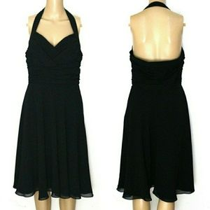 Ralph Lauren 8, Halter Open Back Chiffon Mini